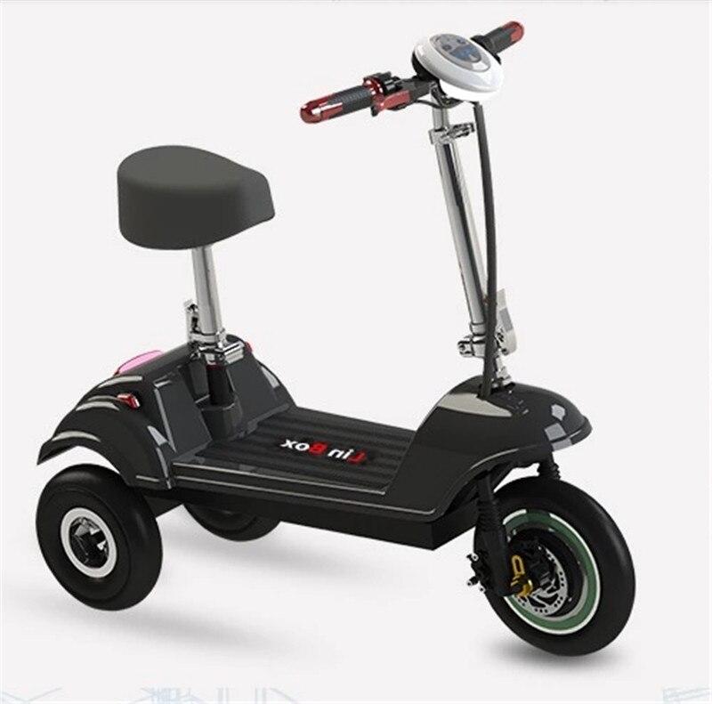 Mini scooter électrique pliant de batterie de lithium de tricycle pour la voiture adulte de batterie des enfants