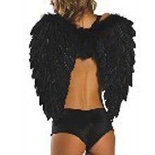 Белый и черный костюм-Крылья ангела перо крыло для вечерние или фестиваль, перо Хэллоуин аксессуар для взрослых mw02