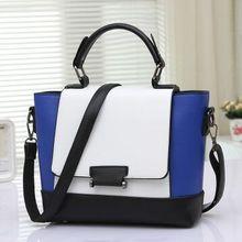 Винтаж женщин сумки случайный плечо сумка женская мода сумка женская портативный цветной блок мешочки сумки женские(China (Mainland))