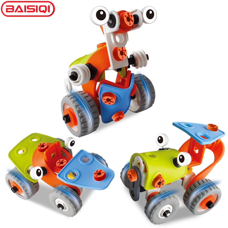 BAISIQI-3D-DIY-plasticRubber-Alien-Robert-Transformer-Assembly-Model-Building-Kits-Educational-Puzzles-for-boy-1