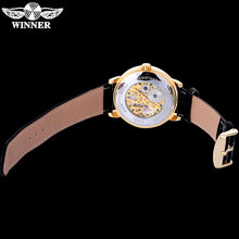 WINNER Luxury Brand Sports Mechanical Watches Leather Strap