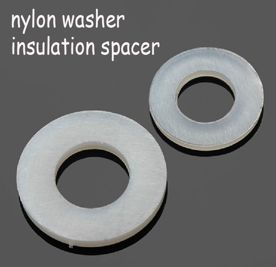 Plastic Ring Spacers : X mm m flat washer plastic nylon spacer fastener