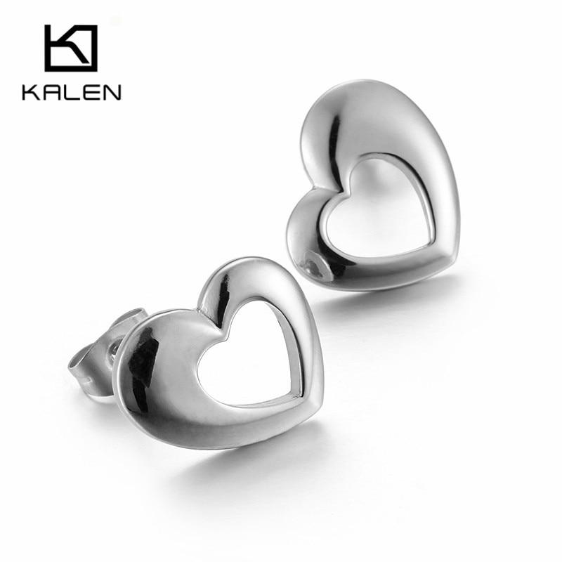 ①Kalen Mode Pas Cher Minimaliste Coeur Stud Boucles D oreilles En ... b23ae737df7