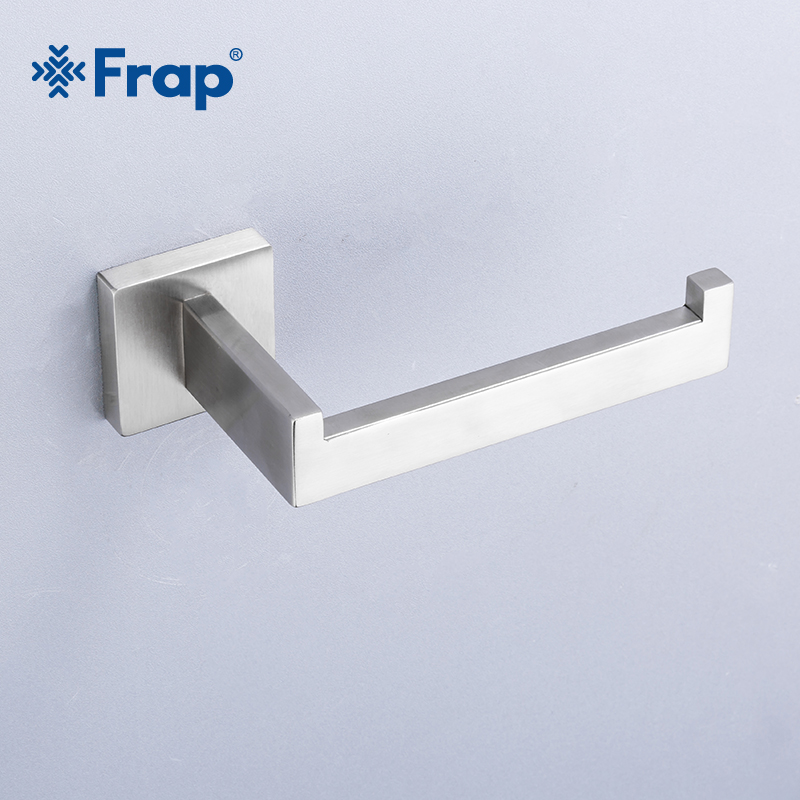 Frap New Arrival Wall Mounted Paper Holder Silver 304 Stainless Steel Bathroom Accessories Lavatory Toilet Paper Hook Y14008/-1Frap New Arrival Wall Mounted Paper Holder Silver 304 Stainless Steel Bathroom Accessories Lavatory Toilet Paper Hook Y14008/-1