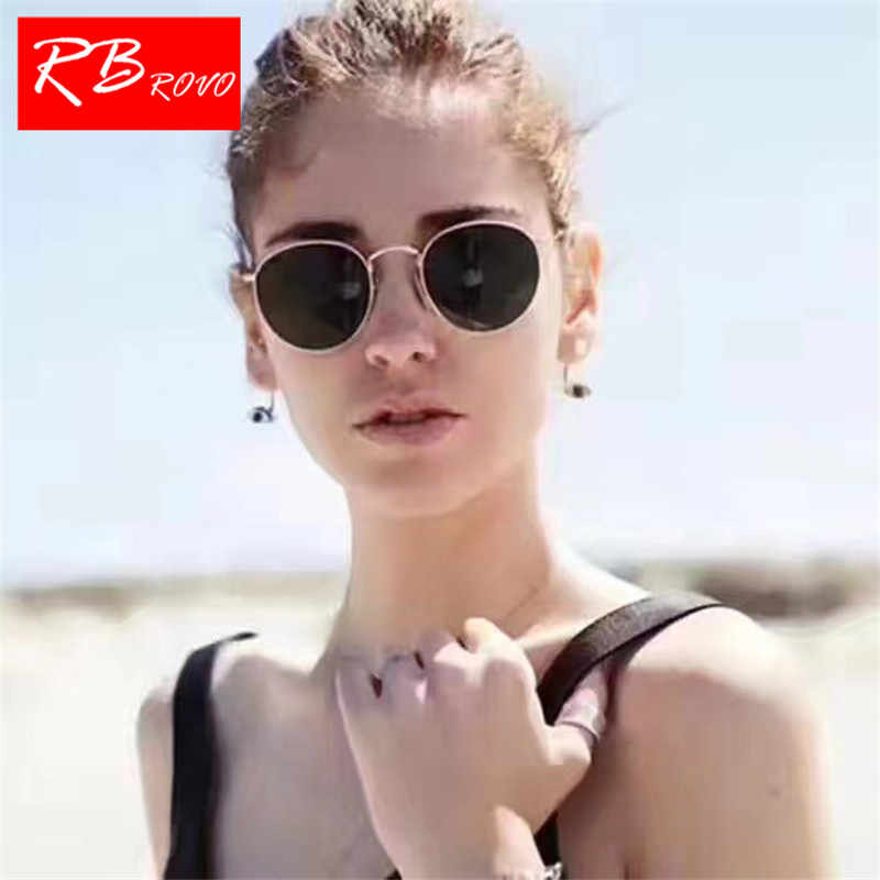 bda916d2a7 RBROVO 2019 Fashion Metal Round Sunglasses Women Mirror Classic Vintage  Street Beat Glasses Men Glasses Driving