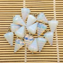 Wholesale Natural Stone Pendants Pendulum Moonstone Opal Stone Jewelry DIY Earrings Crystal stone for DIY necklaces earing