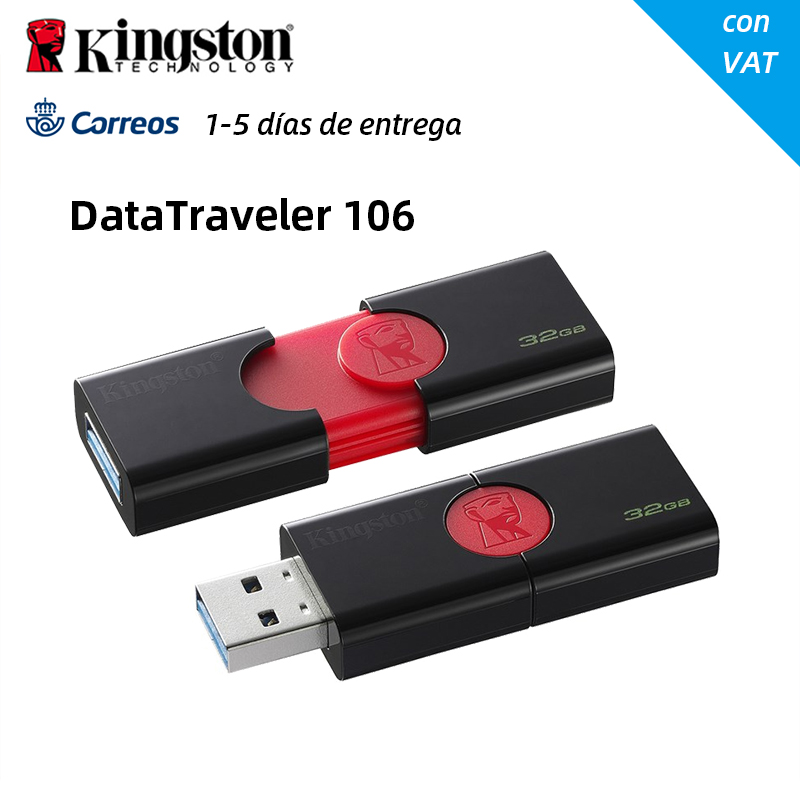 Original <font><b>Kingston</b></font> DataTraveler 106 USB 3.0-Stick <font><b>32GB</b></font> 64GB 128G Stift Stick Stick Stick 32 64 128 256 GB DT106 USB Disk image