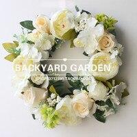 Clear witte pioen, outdoor gazon kerk, bruiloft site decoratie kamer decoratie gift