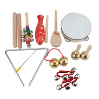 Children Percussion Instrument Musical Instrument Tools Toy Musical Instrument Fun Wood Bell Kindergarten Teaching Aids 1 Set