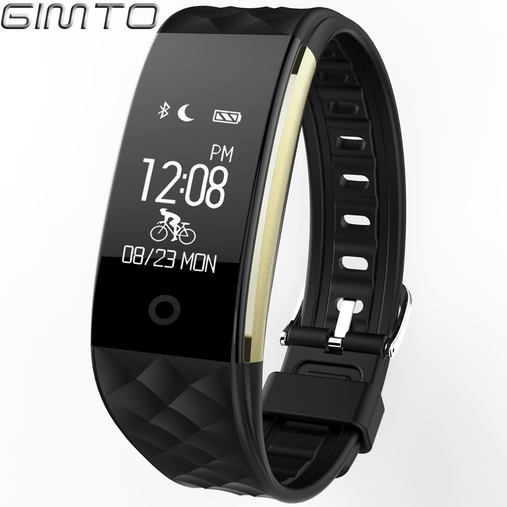 GIMTO Smart Bracelet Watches 2018 Bluetooth Black Led Digital All Compatible IOS & Android Women Men Casual Sport Wristwatch