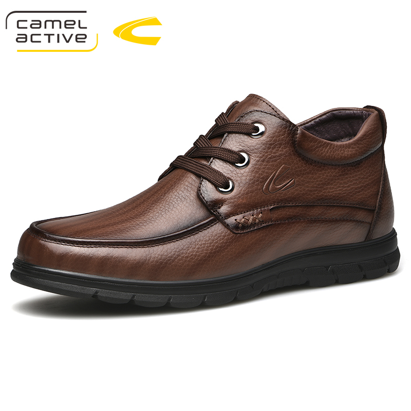 Camel Active New Men Boots Winter With Warm Snow Boots Men Winter Boots Men Footwear Fashion Rubber Genuine Leather Ankle Boots new men winter boots plush genuine leather men cowboy waterproof ankle shoes men snow boots warm waterproof rubber men boots page 8