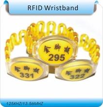 100pcs printing order code  EM4100 125Khz RFID Wristband,Waterproof Wristband,cabinet key Wristband tags