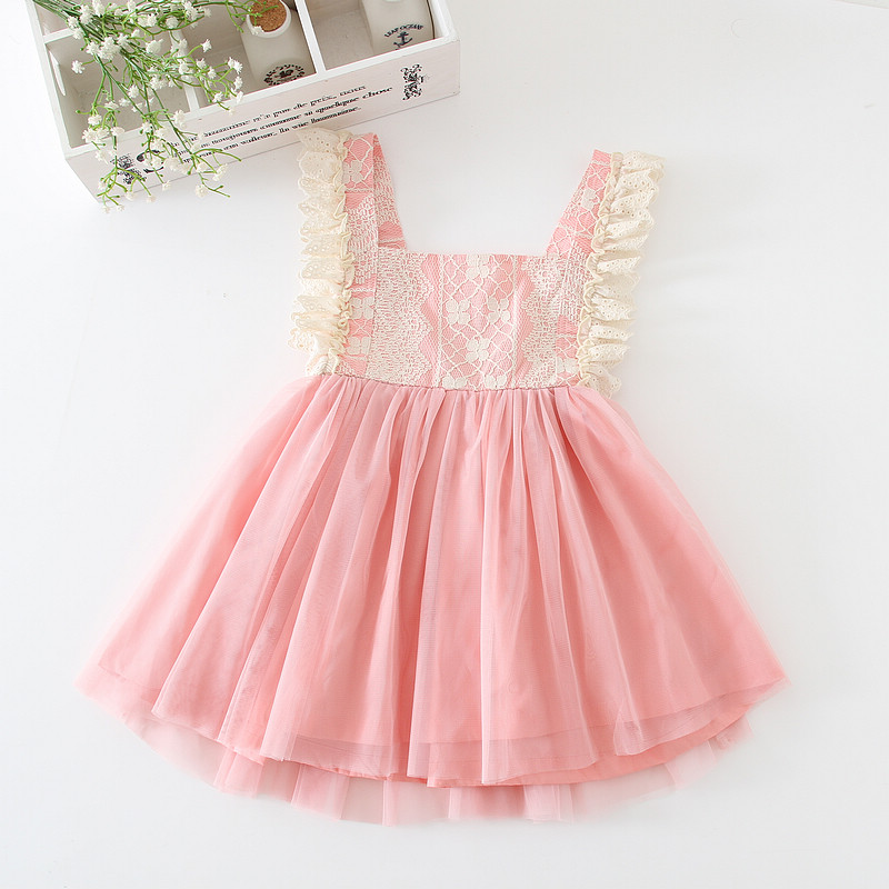 Girls Dresses Lace Tulle Kids Ball Gown Cute Kids Dresses For Girls Fashion Princess Party Kids Clothing Children Summer Outfits