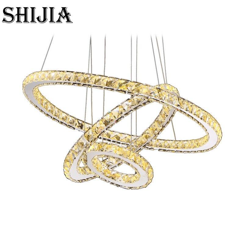 Hot sale Diamond Ring LED Crystal Chandelier Light Modern Chandelier Circles 100% Guarantee +Free shipping renaissance sanya resort