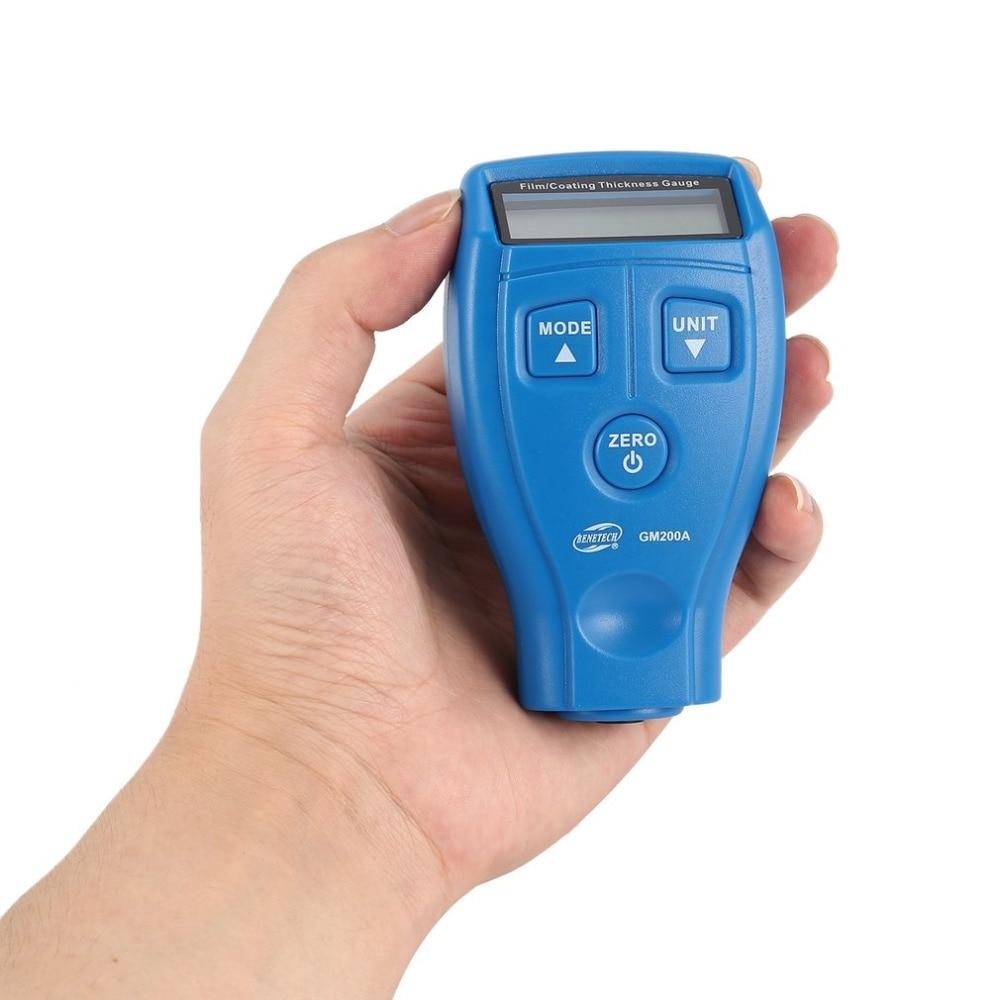 Dropshipping GM200A medidor de espesor Digital Auto coche pintura espesor de revestimiento medidor Tester herramienta de medición 0-1,80mm/0 -71,0 mil