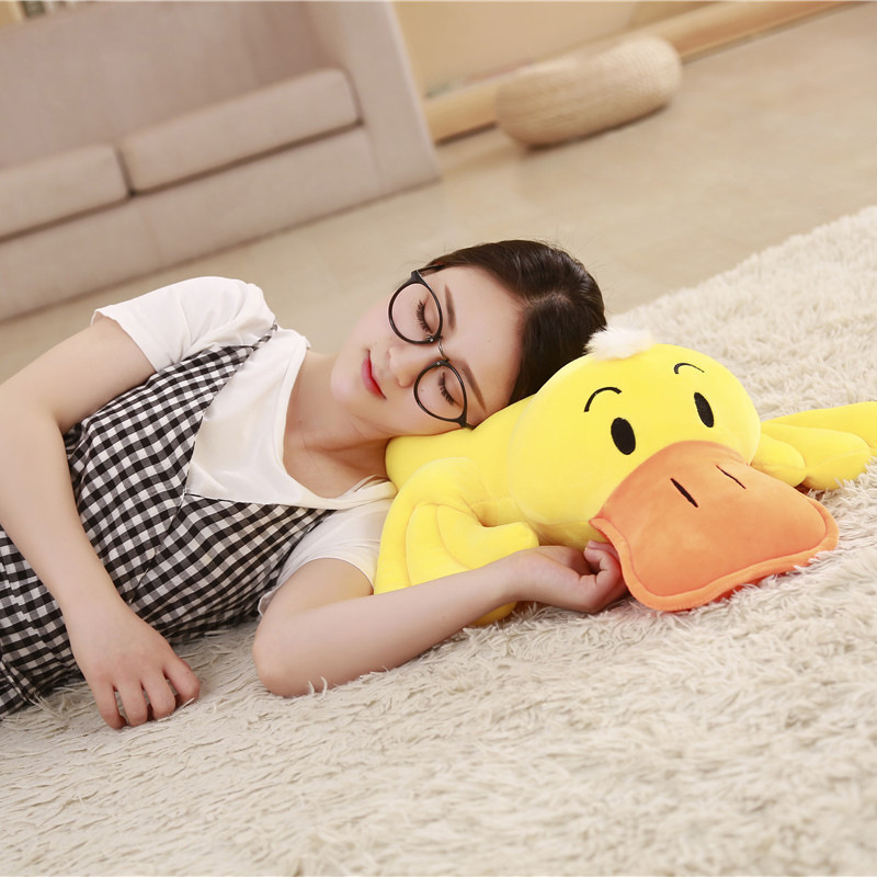 Duck-Cushion Cartoon-Mat Small Yellow Gift Happy Elastic Little Super-Soft