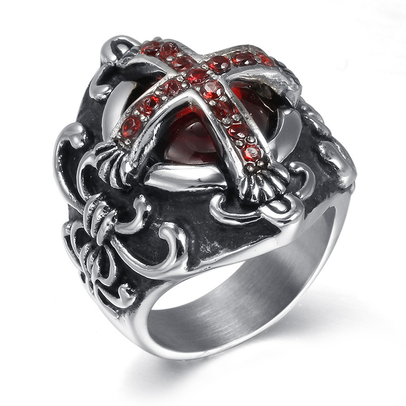 Men Ring New Retro jewelry Gothic Vampire cross ring men jewelry