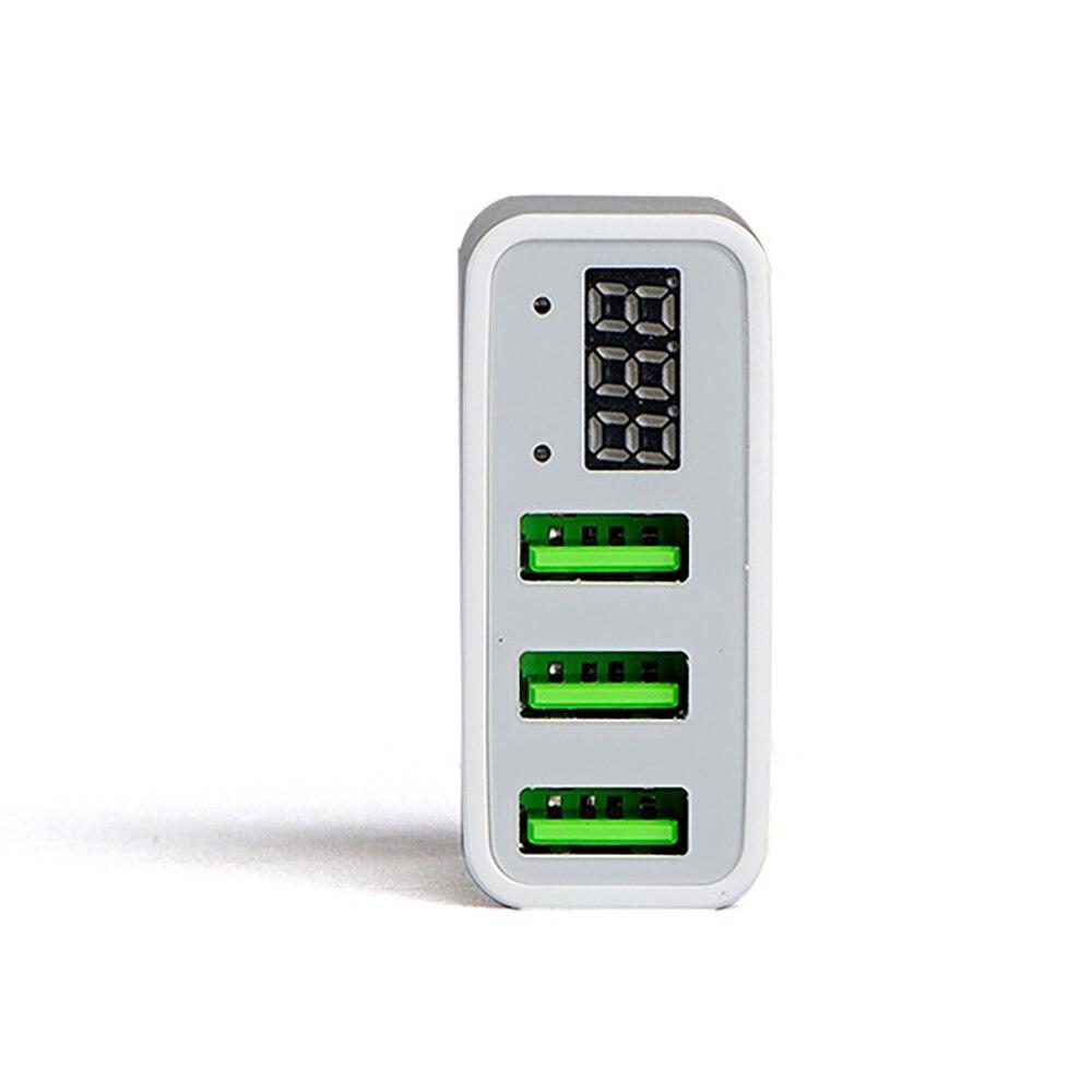 USB Charger LED Universal Untuk 3 Port Cepat 5 V 3A UNI EROPA US Plug - Aksesori dan suku cadang ponsel - Foto 4