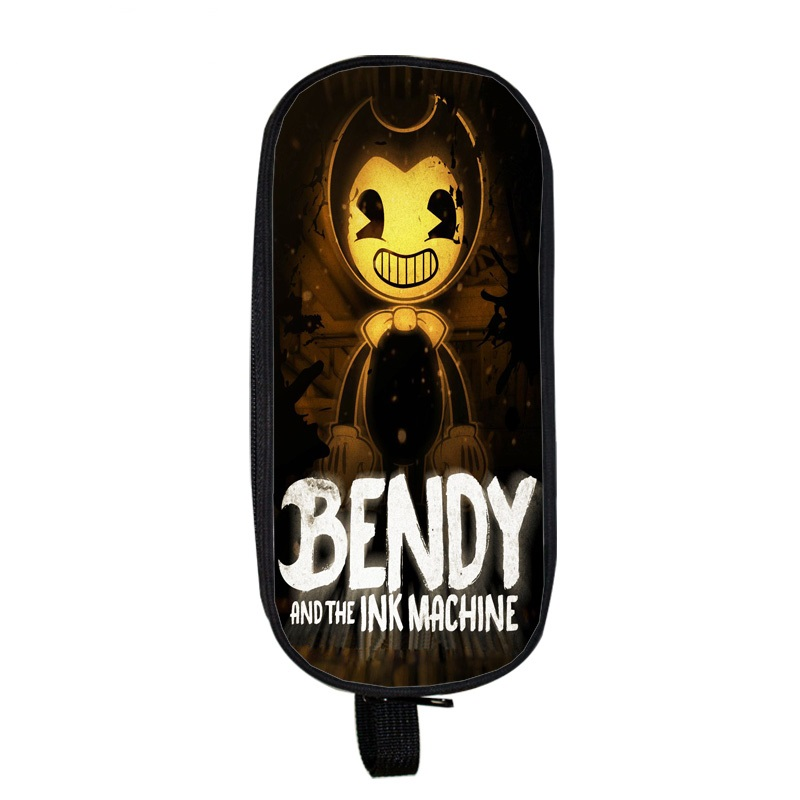 New Bendy And The Ink Machine School Supplies Student Pencil Case Cartoon Boys Girls High-capacity Pen Bag Cosmetic Bag