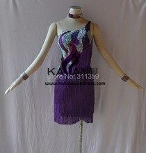 Pakaian tarian latin! KAKA-L1519, Wanita Pakaian Tarian, Girls Latin Fringe Dress, Salsa Dress Tango Samba Rumba Chacha Dress, wanita berpakaian