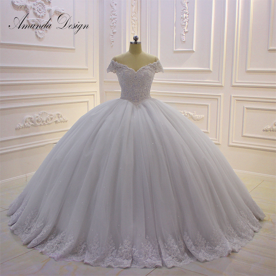 US $1115.115 115% OFFAmanda Design hochzeitskleid Off Shoulder Lace Appliqued  Ball Gown Wedding DressWedding Dresses - AliExpress