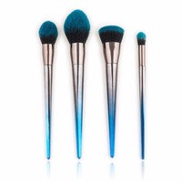 Professional 4 7pcs Set Diamond Shaped Makeup Brush Beauty Tools Flame Brush Eye Shadow Brush Blue