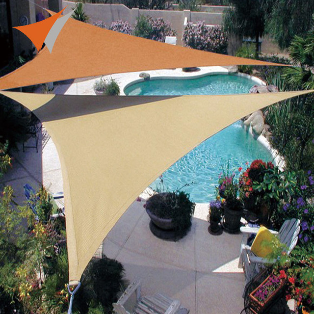 Large 6x6x6m Sun Shade Sail Shade Cloth Outdoor Canopy Patio Garden Pool Triangles Awning UV Top & Large 6x6x6m Sun Shade Sail Shade Cloth Outdoor Canopy Patio ...
