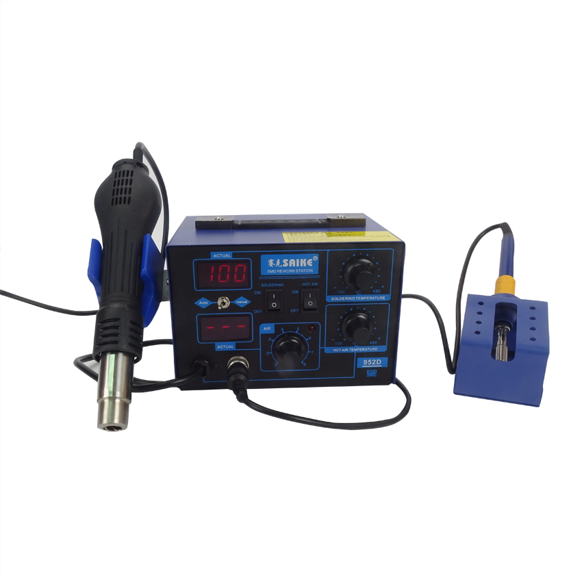 1pcs NEW arrival saike 952D rework station hot air gun soldering station 220V or 110V все цены