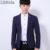 Hombres Colores Sólidos Slim Fit Blazers Abrigo Chaquetas Casuales Mens Un Botón de la Chaqueta Ropa Masculina M-3XL Negro Azul Ocio K299