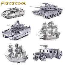 ФОТО piececool new 3d metal assembly model jigsaw toys nagato class battleship puzzle military series tank ships fighter