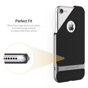 Image 3 - ROCK funda de lujo para iPhone 7/7 Plus, carcasa Original de lujo con textura de TPU y armadura, elegante