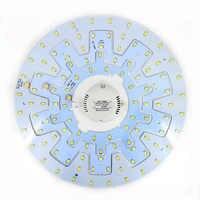 12 W 18 W 24 W accesorio de techo LED Panel de anillo círculo luces 5730 LED redondo de techo de la lámpara Circular con tornillo magnético + controlador
