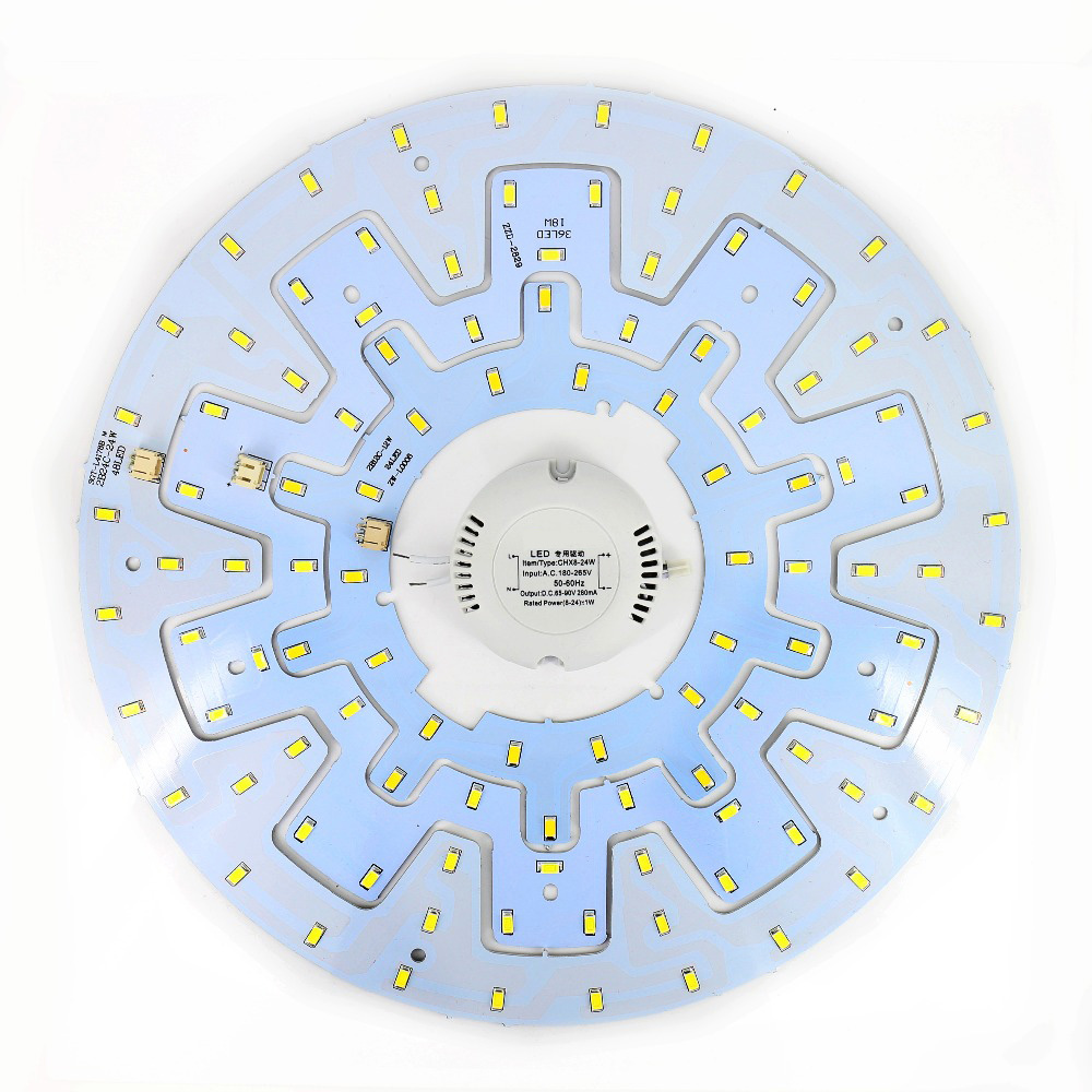 12W 18W 24W Ceiling Fixture LED Ring Panel Circle Lights 5730 LED Round Ceiling Board Circular Lamp With Magnet Screw + Driver 28w x2 smd 5730 ceiling light pcb retrofit magnet board led ring light panel remoulding plate with driver and magnet screw