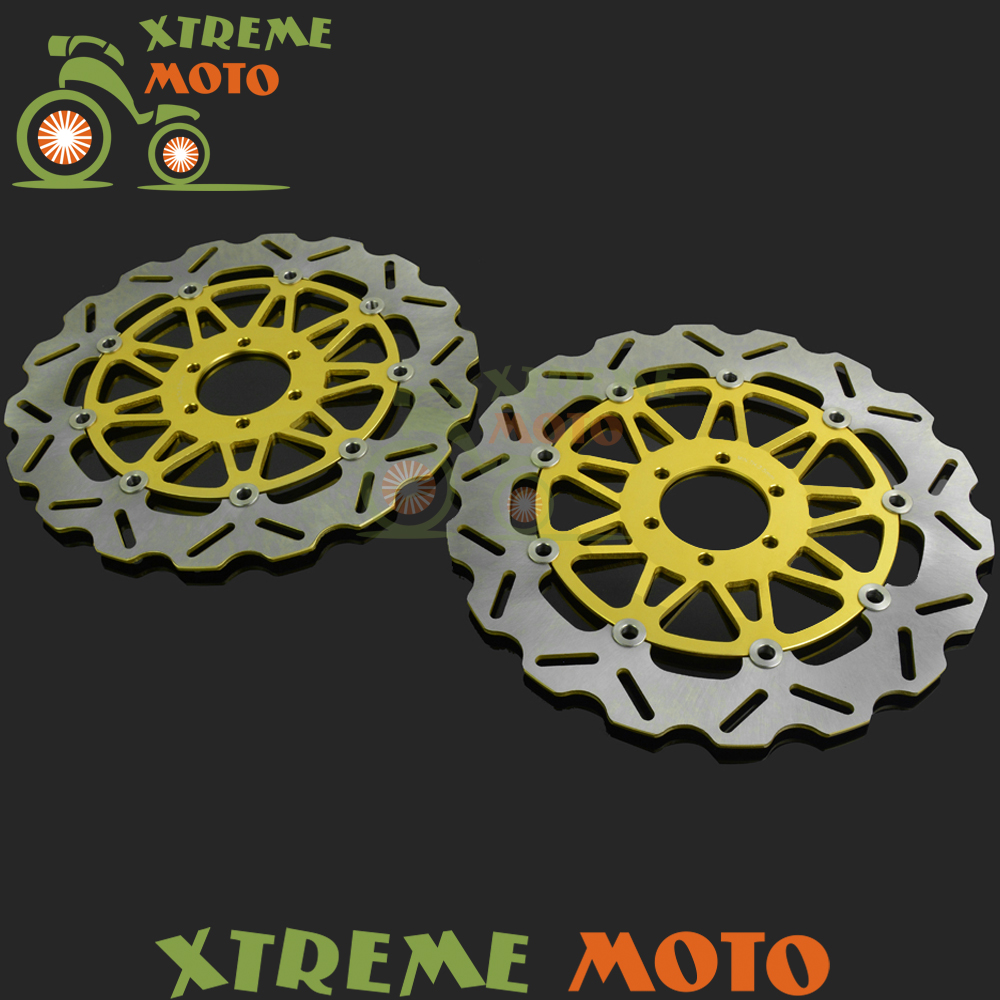 Motorcycle Front Floating Brake Disc Rotor For FZR1000 EX-UP GENESIS XJR1200 Ducati Supersport 400 600 Multistrada Dark 620 motorcycle front and rear brake pads for yamaha fzr 1000 fzr1000 genesis 1987 1989 brake disc pad