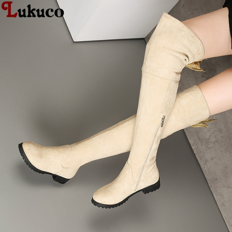 цена 2018 Warm Botas Over The Knee Boot Winter Shoes Large Size 40 41 42 43 44 45 46 47 48 High Quality Handmade Footwear Shoes Woman