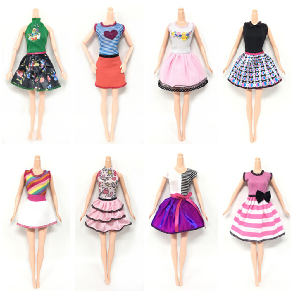 Fashion Doll Outfit Beautiful Handmade Party Clothes Top Dress For Barbie Noble Doll Best Child GirlsGift 8 Styles 2018