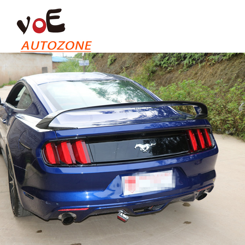 2015 2016 Mustang GT350R Style Carbon Fiber Auto Car Rear Wing Spoiler for Ford Mustang стоимость