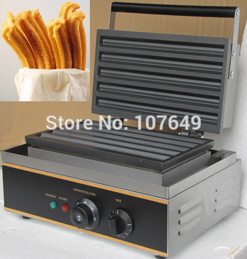 110v 220V Commercial Use Non-stick Electric Churro Waffle Maker Iron Machine Baker commercial non stick 110v 220v electric 6pcs waffle pancake maker iron machine