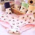 Fashion Women Cotton Panties Briefs Ice Cream Pattern Lace Ladies Knickers Underwear