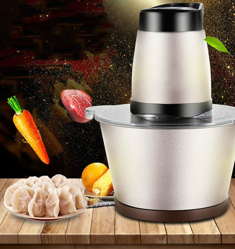Meat Grinders home electric stainless steel fully automatic multi-functional stirring cooking minced capsicum pepper small