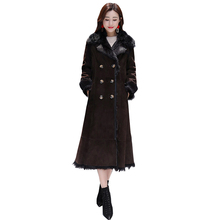 Women's Jacket Warm 2019 New Coat Parka Fur Collar X-Long Brown Jackets Leisure Plus Size Female Parkas Thicken Outerwear Winter snow wear large fur collar coat women parka long 2017 winter parkas female thick warm ladies jackets and coats outerwear brown z