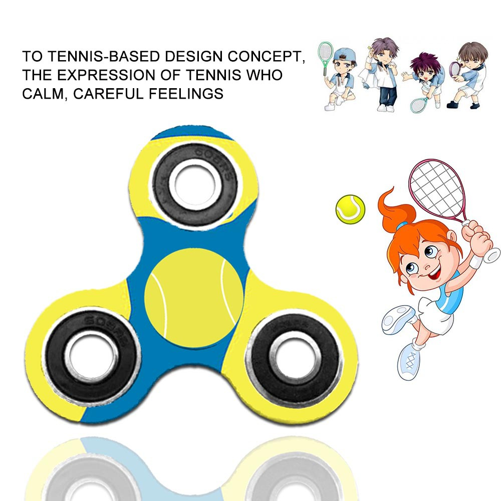 Tennis Ball Fidget Hand Spinner Triple Handle Spinner Stress Relief Toy pour enfants et adultes