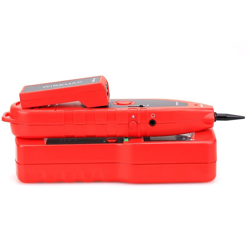Le traqueur de fil de testeur de câble de réseau RJ45 Original de NF-8208 diagnostique l'affichage à cristaux liquides polyvalent d'ethernet de traceur de tonalité - 3