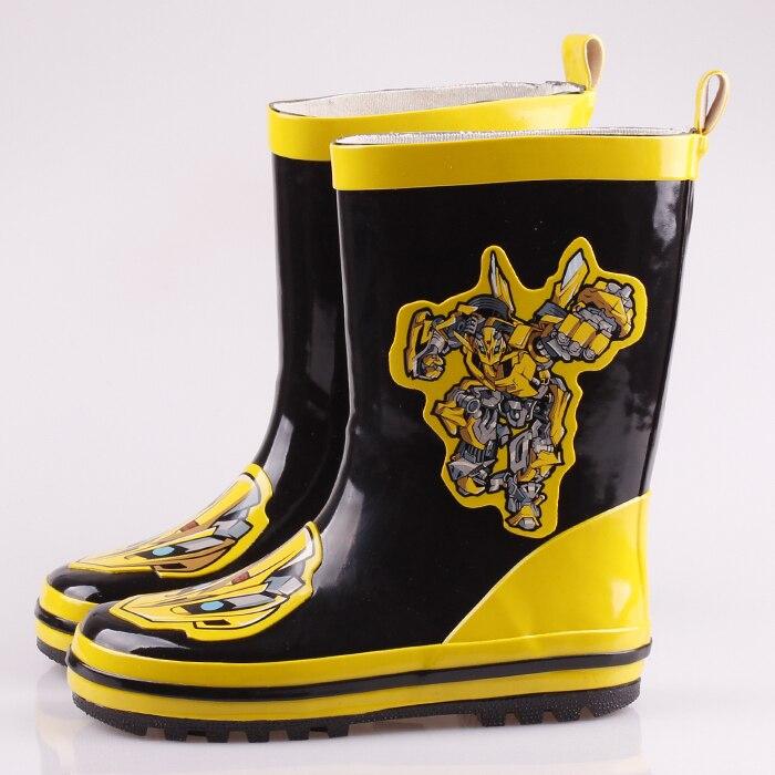 Boys Cartoon Rain Boots Transformers Rubber Boots