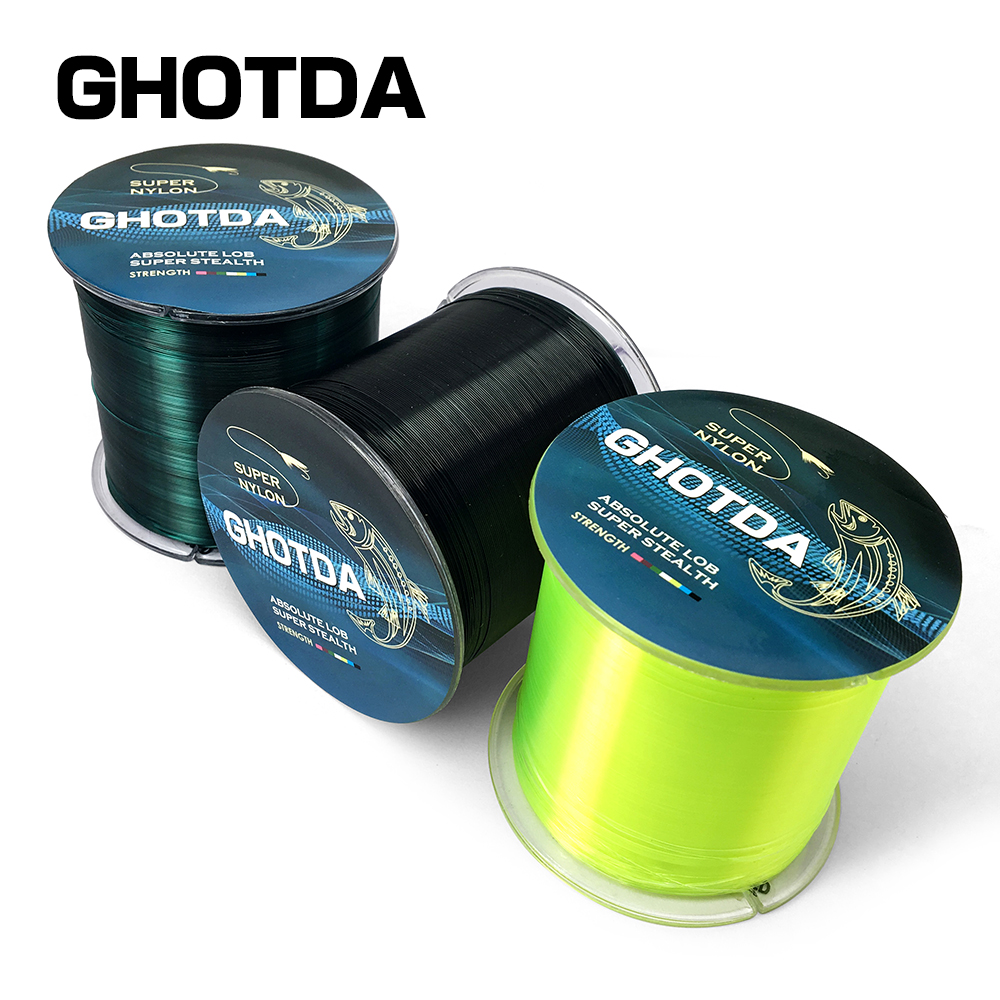 GHOTDA 500M Monofilament Nylon Fishing Line Rope Wire High Quality ...
