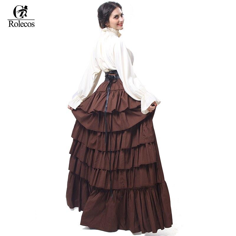 da249642881a5 الفتيات القوطية لوليتا اللباس النساء القرون الوسطى النهضة الفيكتوري ازياء  النساء عالية الخصر كشكش التنانير هالوين ملابس تنكرية للحفلات