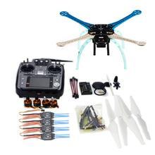DIY GPS Drone APM2.8 S500-PCB Marco Multi-Rotor Kit Completo 2.4G AT10 TX y RX ESC Motor NO Cargador de batería F08191-I