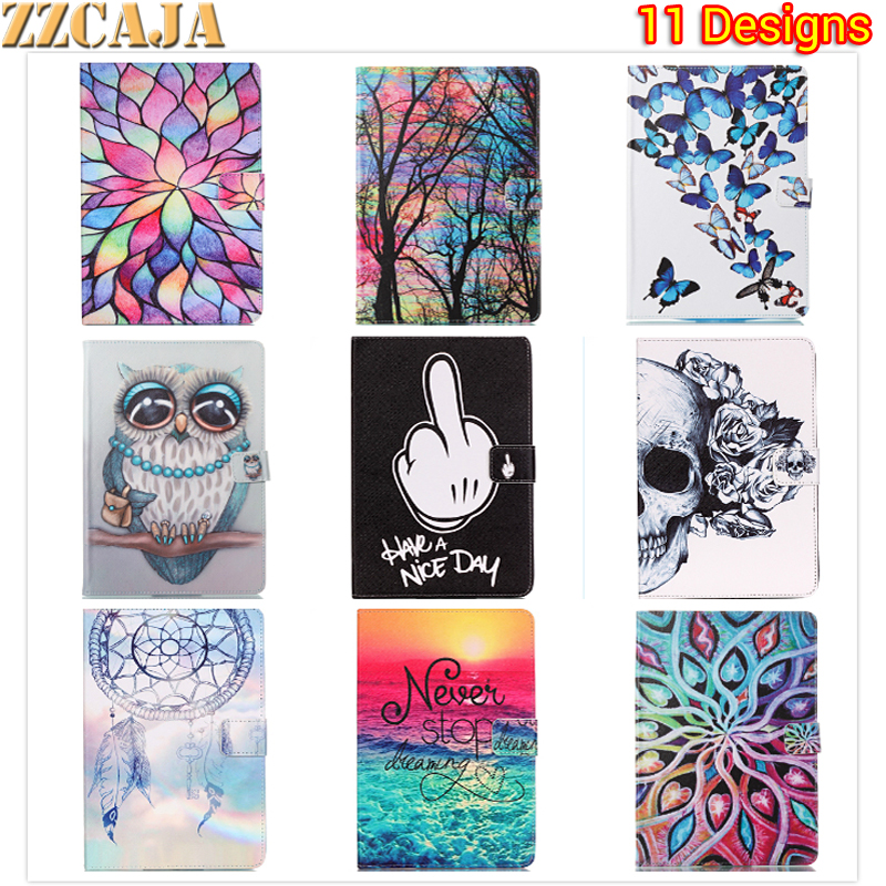 ZZCAJA Print Flip PU Leather For Samsung Galaxy Tab E T560 9.6 inch Case For Samsung Galaxy Tab E SM-T560 T561 Stand Cover Funda