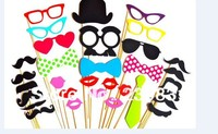 Set Of 32 Mustache On A Stick Wedding Party Photo Booth Props Photobooth Funny Masks Bridesmaid