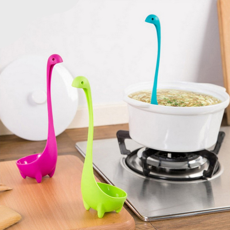 2016 multicolor lovely loch ness monster soup spoon design innovation of the loch ness monster spoon kitchen cooking accessories